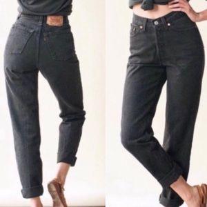 Vintage Black Levi's 550 High Waisted Jeans Sz. 16